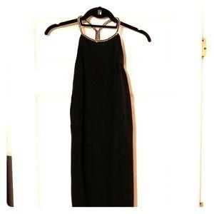 Zara Black Cocktail Dress with Diamonds (M)